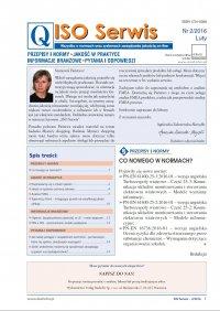 ISO Serwis. Wszystko o normach i systemach zarządzania jakością. Nr 2/2016