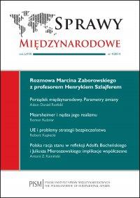 Sprawy Międzynarodowe 4/2014 - dr Marcin Zaborowski - eprasa