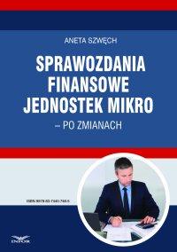 Sprawozdania finansowe jednostek mikro – po zmianach