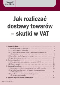 Jak rozliczać dostawy towarów – skutki w VAT - Marcin Jasiński - ebook
