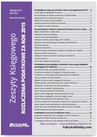 Zeszyty Księgowego nr 5. Rozliczenia podatkowe za rok 2015