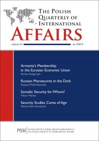 The Polish Quarterly of International Affairs, no 4/2015 - Armen Grigoryan - eprasa