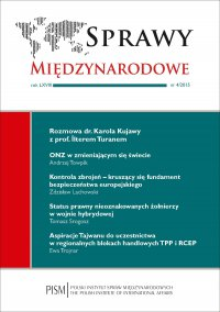 Sprawy Międzynarodowe, nr 4/2015 - Karol Kujawa - eprasa