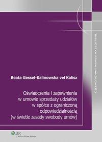 Oświadczenia i zapewnienia w umowie sprzedaży udziałów w spółce z ograniczoną odpowiedzialnością (w świetle zasady swobody umów) - Beata Gessel-Kalinowska-vel-Kalisz - ebook