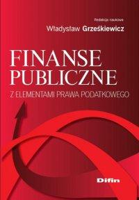 Finanse publiczne z elementami prawa podatkowego