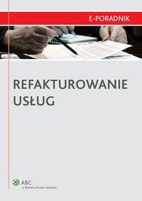 Refakturowanie usług - Mariusz Jabłoński - ebook