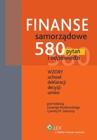 Finanse samorządowe. 580 pytań i odpowiedzi - Joanna M. Salachna - ebook