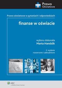 Finanse w oświacie - Marta Handzlik - ebook