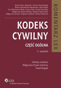 Kodeks cywilny. Komentarz. Część ogólna - Biruta Lewaszkiewicz-Petrykowska - ebook