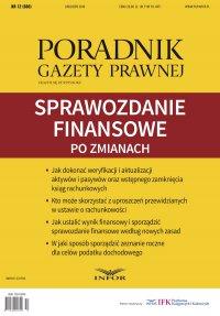 Sprawozdanie finansowe po zmianach