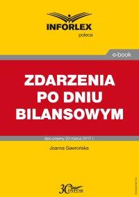 Zdarzenia po dniu bilansowym - Joanna Gawrońska - ebook
