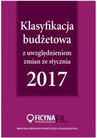 Klasyfikacja budżetowa 2017 z uwzględniem zmian ze stycznia 2017