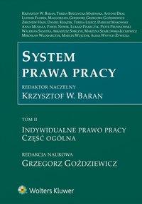 System prawa pracy. TOM II. Indywidualne prawo pracy. Część ogólna - Marzena Szabłowska-Juckiewicz - ebook