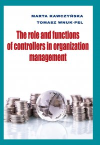 The role and functions of controllers in organization management - Marta Kawczyńska - ebook