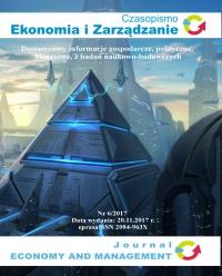 Czasopismo Ekonomia i Zarządzanie nr 6/2017