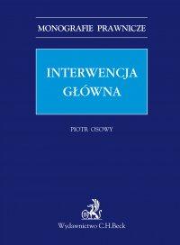 Interwencja główna - Piotr Osowy - ebook
