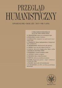 Przegląd Humanistyczny 2015/3 (450)