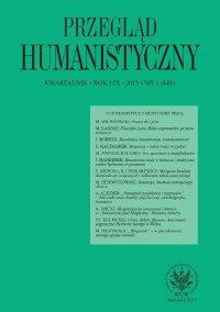 Przegląd Humanistyczny 2015/1 (448)