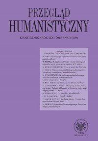 Przegląd Humanistyczny 2015/2 (449)