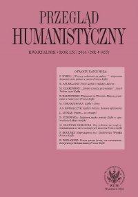 Przegląd Humanistyczny 2016/4 (455)