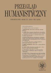 Przegląd Humanistyczny 2016/3 (454)