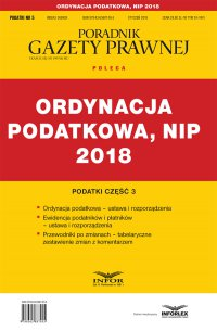 Ordynacja podatkowa, NIP 2018. Podatki część 3