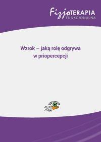 Wzrok – jaką rolę odgrywa w priopercepcji - Jacek Soboń - ebook