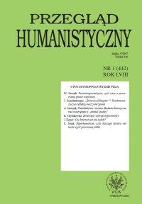 Przegląd Humanistyczny 2014/1 (442)