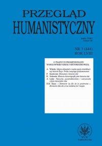 Przegląd Humanistyczny 2014/3 (444)
