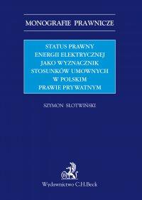 Status prawny energii elektrycznej jako wyznacznik stosunków umownych w polskim prawie prywatnym