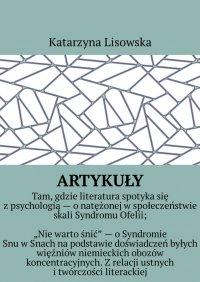 Artykuły - Katarzyna Lisowska - ebook