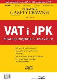 VAT i JPK Nowe obowiązki od 1 lipca 2018 r