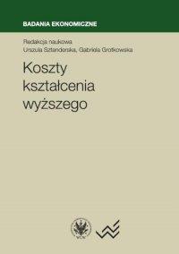 Koszty kształcenia wyższego - Urszula Sztanderska - ebook