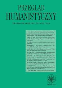 Przegląd Humanistyczny 2018/1 (460) - Agnieszka Karpowicz - eprasa