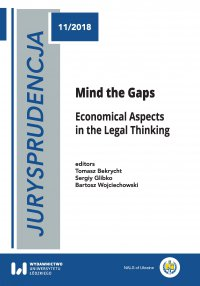 Jurysprudencja 11. Mind the Gaps. Economical Aspects in the Legal Thinking - Tomasz Bekrycht - ebook
