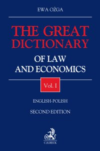 The Great Dictionary of Law and Economics. Vol. I. English - Polish - Ewa Ożga - ebook
