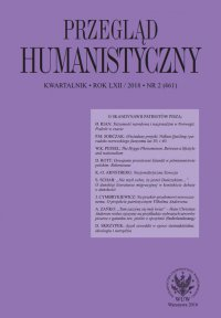 Przegląd Humanistyczny 2018/2 (461)