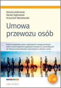 Umowa przewozu osób - Dorota Ambrożuk - ebook
