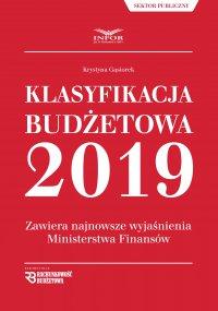 Klasyfikacja budżetowa 2019. Zawiera najnowsze wyjaśnienia Ministerstwa Finansów - Krystyna Gąsiorek - ebook
