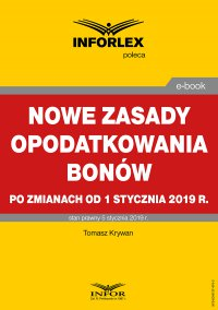 Nowe zasady opodatkowania bonów po zmianach od 1 stycznia 2019 r.