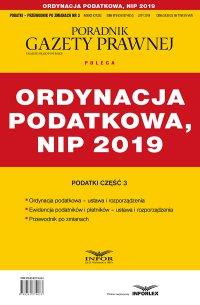 Ordynacja podatkowa, NIP 2019 Podatki cz.3