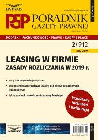 Leasing w firmie – zasady rozliczania w 2019 r.