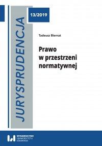 Jurysprudencja 13. Prawo w przestrzeni normatywnej - Tadeusz Biernat - ebook