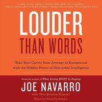 Louder Than Words - Joe Navarro - audiobook