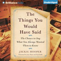 Things You Would Have Said - Jackie Hooper - audiobook