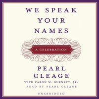 We Speak Your Names - Pearl Cleage - audiobook