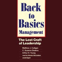 Back to Basics Management - Matthew J. Culligan - audiobook