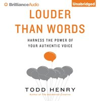 Louder Than Words - Todd Henry - audiobook