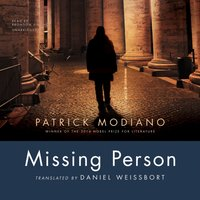 Missing Person - Patrick Modiano - audiobook
