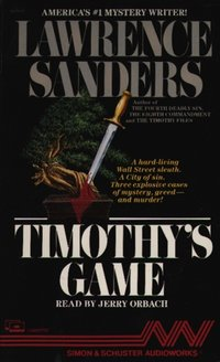 Timothy's Game - Lawrence Sanders - audiobook